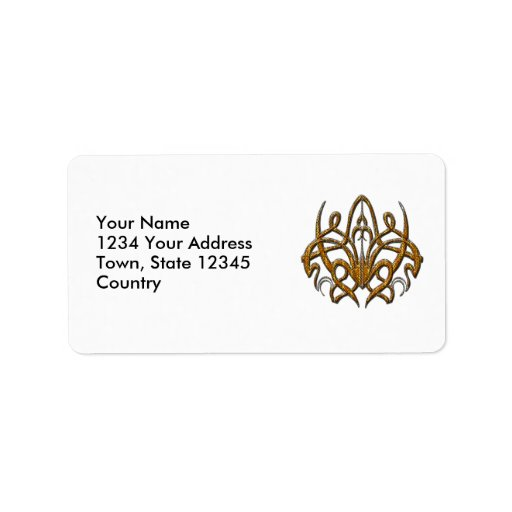 Tiger Spider Personalized Address Label