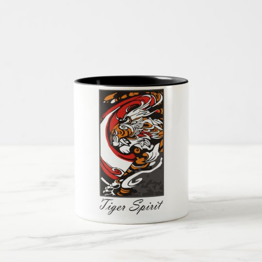 tiger_spirit Two-Tone coffee mug