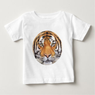 """""""Tiger Spot"""" on White, Watercolor Art Baby T-Shirt"""