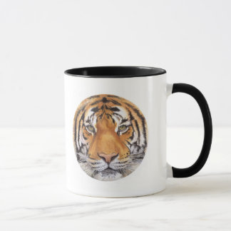 """Tiger Spot"" on White, Watercolor Art Mug"