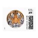 """""""Tiger Spot"""" on White, Watercolor Art Stamp"""