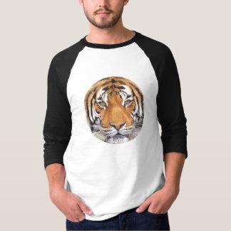 """Tiger Spot"" on White, Watercolor Art T-Shirt"
