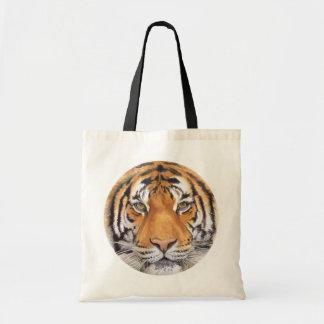"""Tiger Spot"" on White, Watercolor Art Tote Bag"
