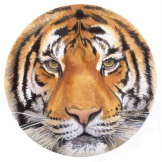 """""""Tiger Spot"""" Tiger Face Watercolor Art Statuette"""