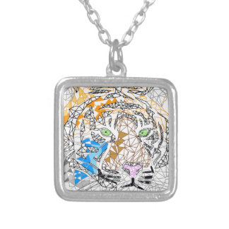 Tiger Square Pendant Necklace