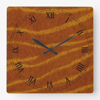 Tiger Square Roman Numerals Clock