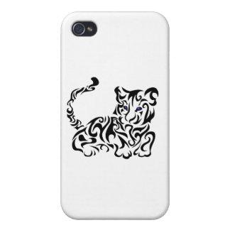Tiger Squirls iPhone 4/4S Cases
