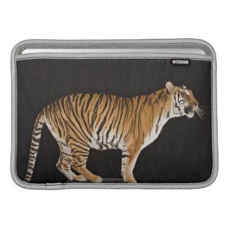 Tiger standing on platform MacBook sleeves