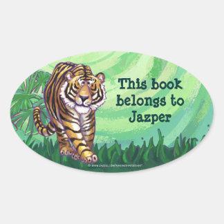 Tiger Stationery Oval Sticker