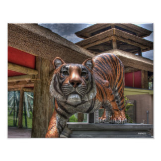 Tiger Statue Poster