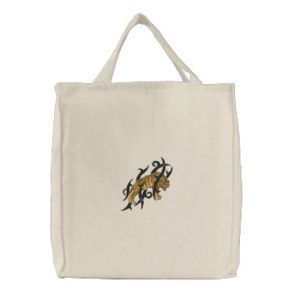Tiger Stealth Embroidered Tote Bag