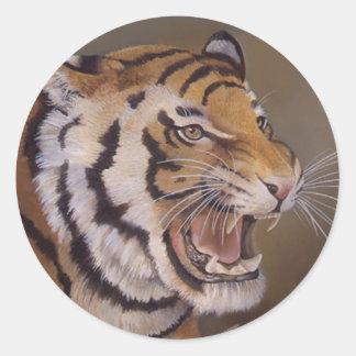 Tiger Sticker Round Sticker