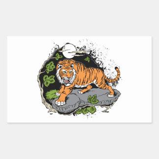 Tiger Rectangular Stickers