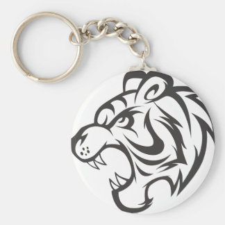 Tiger Sticker | Custom Angry Tiger Stickers Keychain