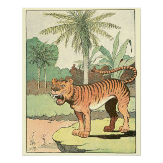 Tiger Storybook Alphabet Poster