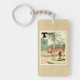 Tiger Storybook Rectangle Acrylic Keychains
