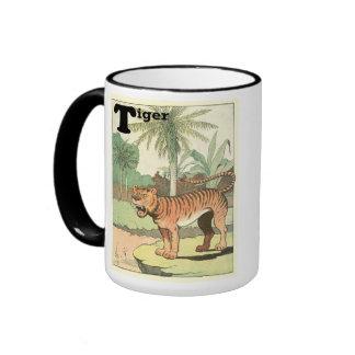Tiger Storybook Ringer Coffee Mug