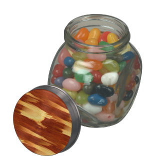 Tiger Stripe Bamboo Wood Grain Look Jelly Belly Candy Jars
