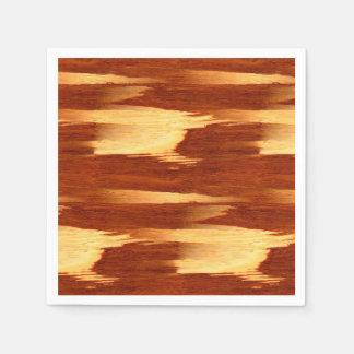 Tiger Stripe Bamboo Wood Grain Look Paper Napkin