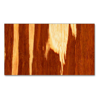 Tiger Stripe Bamboo Wood Grain Look Magnetic Business Cards