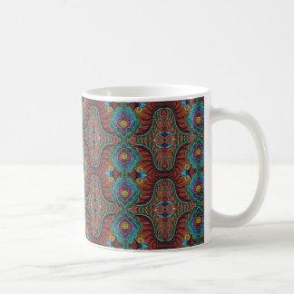Tiger Stripe Floral Design Coffee Mug