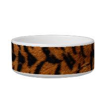 Tiger Stripe Fur Print Bowl