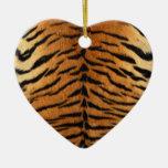 Tiger Stripe Fur Print Christmas Ornaments
