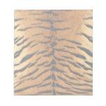Tiger Stripe Fur Print Memo Notepads
