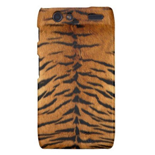 Tiger Stripe Fur Print Motorola Droid RAZR Case