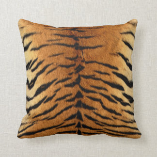 Tiger Stripe Fur Print Throw Pillow