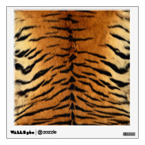 Tiger Stripe Fur Print Wall Sticker
