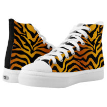 Tiger stripe High-Top sneakers