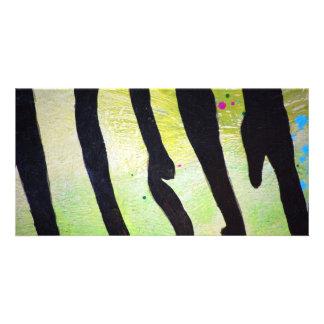 Tiger-stripe-pattern1682 TIGER STRIPES PAINTING PA Card