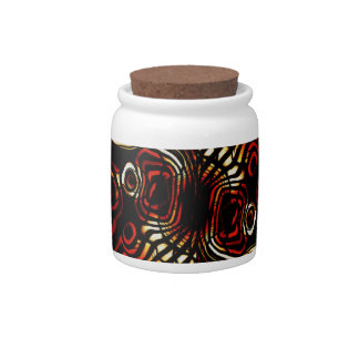Tiger Stripe Pattern Candy Jar