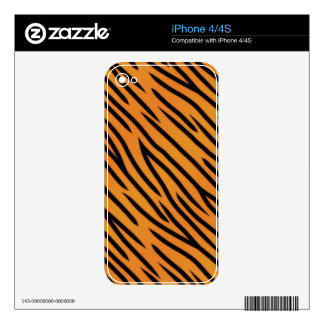 Tiger Stripe Pattern Skin For iPhone 4S