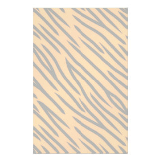 Tiger Stripe Pattern Stationery