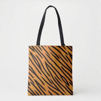 Tiger Stripe Pattern Tote Bag