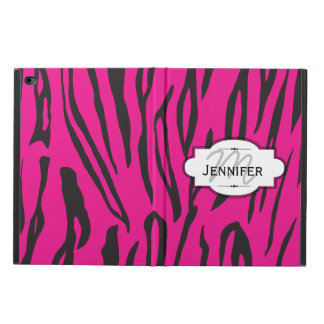 Tiger Stripe Pink and Black White iPad Case