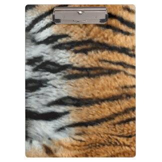 Tiger Stripe Print Pattern Background Clipboard