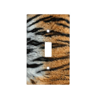 Tiger Stripe Print Pattern Background Light Switch Cover