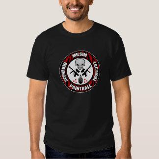 Tiger Stripe Scenario Paintball Badge T Shirt