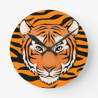 Tiger Striped clock - its eye of the tiger time!