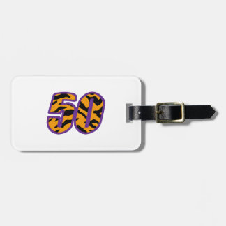 TIGER STRIPED FIFTY TRAVEL BAG TAGS