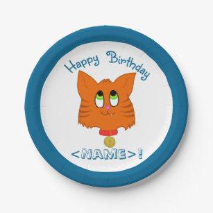 Tiger Striped Kitten Happy Birthday Paper Plates  sc 1 st  Zazzle & Tiger Stripe Plates | Zazzle