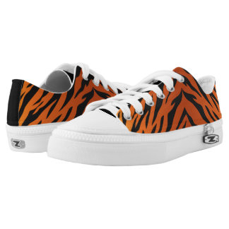 Tiger Striped lace ups - go wild tigers! Low-Top Sneakers