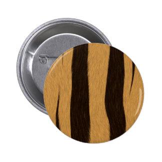 Tiger Stripes 2 Inch Round Button