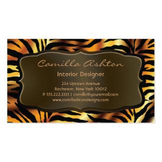 Tiger Stripes African Zebra Business Cards