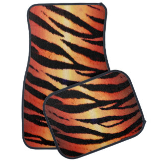 Tiger Stripes Animal Print Car Mats