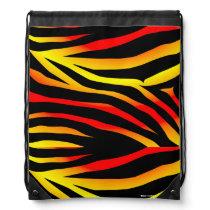 Tiger Stripes Animal Print Pattern Drawstring Bag