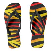 Tiger Stripes Animal Print Pattern Flip Flops